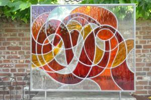 Glasatelier Vetro Colorato, voorzetraam, geert hochstenbach, neerbeek limburg, glasbewerken, workshops